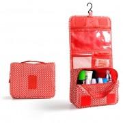 Дорожная сумка для туалетных принадлежностей (Красно-белый)
