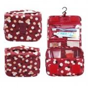 Дорожная сумка для туалетных принадлежностей (Красно-цветочный)