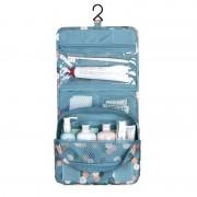 Дорожная сумка для туалетных принадлежностей (Голубой-цветочный)