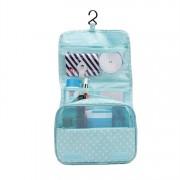 Дорожная сумка для туалетных принадлежностей (Голубой в горошек)