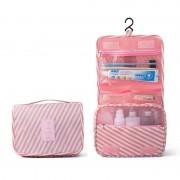 Дорожная сумка для туалетных принадлежностей (Бело-розовый)