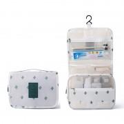 Дорожная сумка для туалетных принадлежностей (Белый с кактусами)