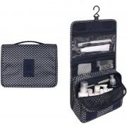 Дорожная сумка для туалетных принадлежностей (Черно-белый)
