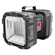 Портативный светодиодный фонарь Searclight W844 + Powerbank USB (Черный)