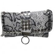 Женская сумка кросс-боди с клепками (Серый)