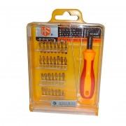 Набор отвертки с насадками Hengfeng Tools 9828 (Красно-оранжевый)