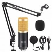 Конденсаторный микрофон BM-800 в комплектации (Черно-золотистый)