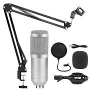 Конденсаторный микрофон BM-800 в комплектации (Серебристый)