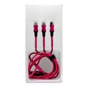 Кабель USB 3in1 L-702 1.2м (Красный)