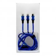 Кабель USB 3in1 L-702 1.2м (Синий)