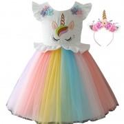 Карнавальный костюм Принцесса Единорог BN-8015, размер М (Розово-желтый)