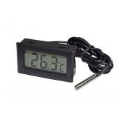 Электронный термометр с выносным датчиком WSD-10 (Черный)