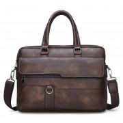 Мужская сумка-портфель Jeep Buluo (Темно-коричневый)