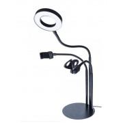 Светодиодная кольцевая лампа 3in1 L3 26см (Черный)