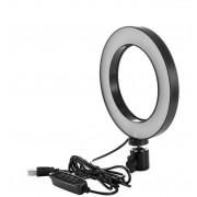 Светодиодная кольцевая лампа L16-1 16см (Черный)