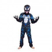 Карнавальный костюм супергероя с мускулами Веном, размер S (Темно-синий)