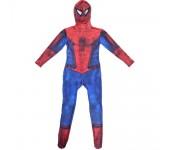 Карнавальный костюм супергероя с мускулами Человек-паук, размер S (Красно-синий)