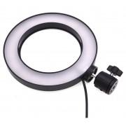 Светодиодная кольцевая лампа 16 см (Черный)