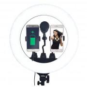 Светодиодная кольцевая лампа ZB-R18 54 см (Черный)