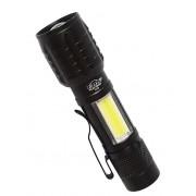 Светодиодный аккумуляторный фонарь A-700 (Черный)