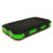 Внешний аккумулятор с солнечной батареей Solar Power Box 20000 mAh (Зеленый)