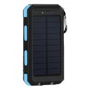 Внешний аккумулятор с солнечной батареей Solar Power Box 20000 mAh (Синий)