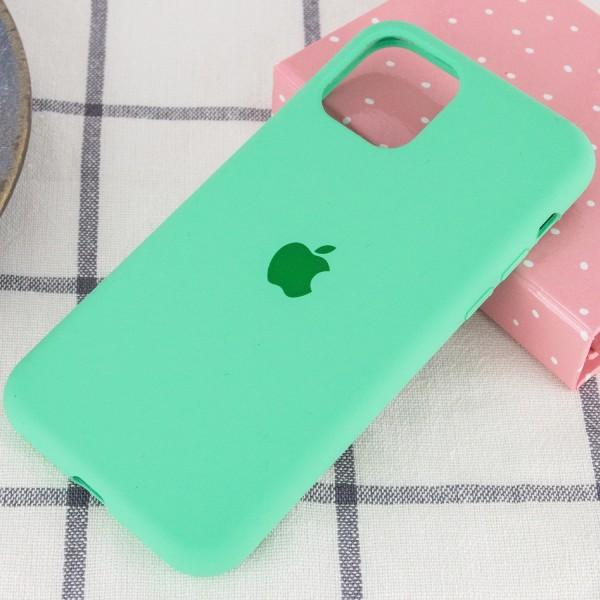 Чехол силиконовый для iPhone 12 (Салатовый)