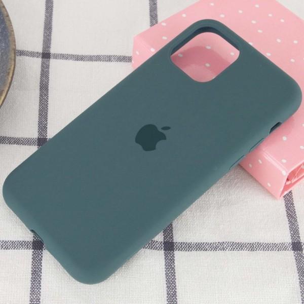Чехол силиконовый для iPhone 12 (Темно-зеленый)