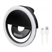 Селфи лампа Selfie Ring Light RK12 (Черный)