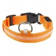 Светящийся ошейник для собаки (Оранжевый)