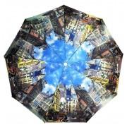 Зонт женский автоматический Городская кошка 042-1 (Микс)