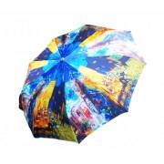 Зонт женский автоматический Кошки в осеннем городе 042-3 (Микс)