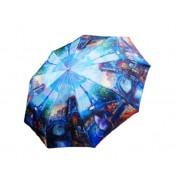 Зонт женский автоматический Кошка в Париже 042-4 (Микс)