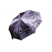 Зонт женский автоматический Кошки в ночном Париже 042-5 (Фиолетовый)