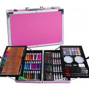 Набор для детского творчества из 145 предметов (Розовый)