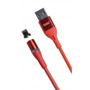 Магнитный кабель MRM USB-Lightning, 1m (Красный)