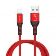 Кабель WIWU MFI WP202 USB-А+Lightning (Красный)