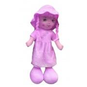 Кукла в однотонном платье и шляпке 55см (Фиолетовый)