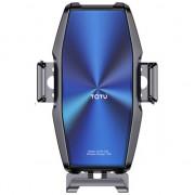 Автомобильный держатель для телефона с беспроводной зарядкой TOTU CACW-033 (Синий)