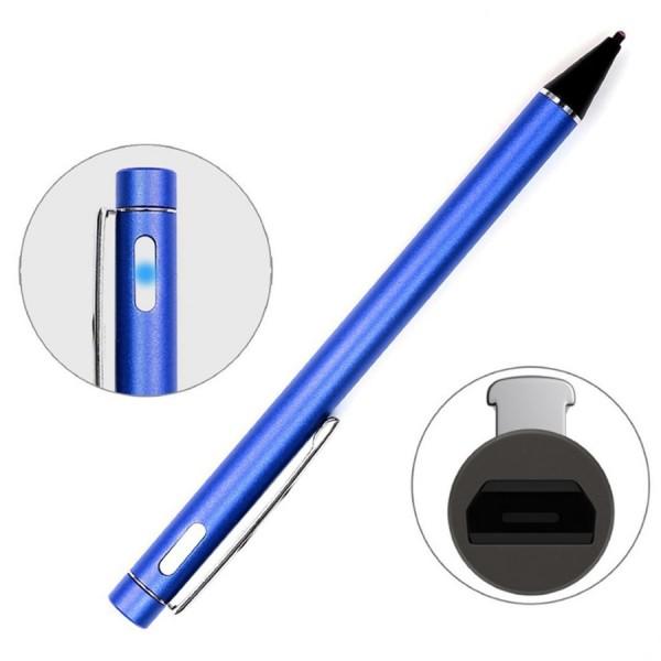 Активный стилус емкостной touch pen stylus с кнопкой для любого экрана смартфона, планшета WH811 (Синий)