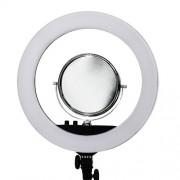 Светодиодная кольцевая лампа RL-18 II, 45см (Черный)