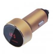 Автомобильное зарядное устройство Car Charger USB-А+Type-C, 3.1А (Золотистый)