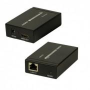 Удлинитель HDMI Extender по витой паре RJ45 60м (Черный)