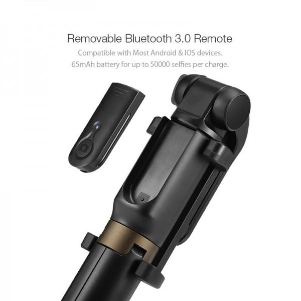 Штатив для селфи 3 в 1 с моноподом и пультом для iPhone (Черный)