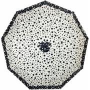 Зонт женский полуавтоматический Pasio 870-1 (Бело-черный)