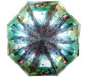 Зонт подростково-женский автоматический Diniya 2270 (Зеленый)