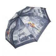 Зонт женский полуавтомат Tulips 002-5 (Серый)
