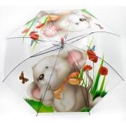 Зонт детский полуавтоматический Diniya 352 Мышенок (Прозрачный)