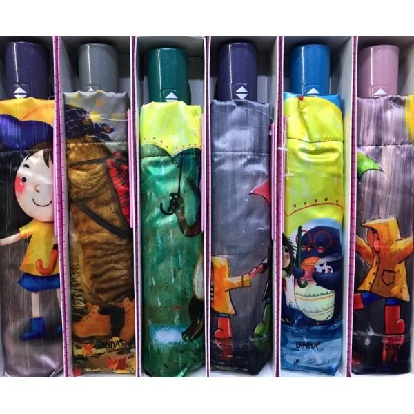 Зонт подростково-женский автоматический Diniya 2270 (Фиолетовый)