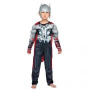 Детский маскарадный костюм супергероя с мускулами Тор размер M
